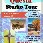 flier, studio tour call to artist